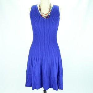 KATE SPADE NY DRESS Blue Size S Knit Fit Flare